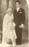 My grandfather George Drymiotis marrying my grandmother Maria Papaellina (original)