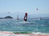 Windsurfing in Mikri Vigla, Naxos