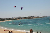 Mikri Vigla, Naxos: Kite and windsurfers paradise