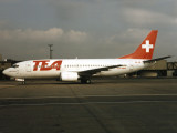 at LGW, before Easy Jet took over TEA Switzerland aircraft and routes. Near stand 14.