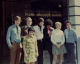 Jason Peller the top teacher and  manager and the first students of the Vidal Sassoons first school in the world