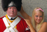 Courtney and a member of His Majesty's 10th Regiment of Foot