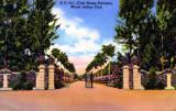 Clubhouse Entrance to the Miami Jockey Club at Hialeah Park - postcard