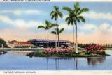 Miami Jockey Club at Hialeah Park - postcard postmarked 1938