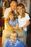 April 1997 - Aunts Norma G. Boyd and Beatrice B. Gift with Donna and Karen D.