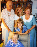 April 1997 - Aunts Norma G. Boyd and Beatrice B. Gift with Karen, Donna and Karen C. Boyd