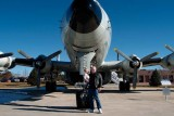 December 2006 - Grandson Kyler Kramer and Don Boyd with a Lockheed EC-121T Warning Star at Peterson AFB