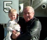 2006 - Grandson Kyler Kramer and Don Boyd with a Lockheed EC-121T Warning Star