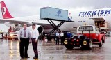 Late 90's - Phil Glatt and unknown gent at Turkish Airlines inaugural to Miami