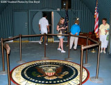 2007 - Donna, Esther Criswell, Karen C. in the John F. Kennedy bomb shelter on Peanut Island