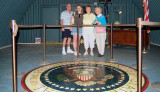 2007 - Don, Donna, and Karen Boyd with Karen's mom Esther Majoros Criswell in the John F. Kennedy Bomb Shelter on Peanut Island