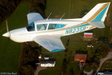 2003 - Karen's brother Jim Criswell in his Bellanca N8235R over southern Tennessee