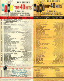 Bob Green's Top 40 Hits for May 9th and November 21st, 1958 on WINZ-AM radio in Miami