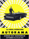 1960 - 2nd Annual International Autorama poster at Dinner Key Auditorium, Miami