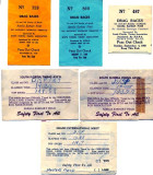 1959 and 1960 - George W. Young's Drag Racing Timing Slips for Amelia Earhart Field and Masters Field, Miami