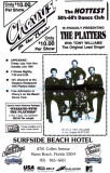 Ad for the The Platters appearing at Chevy's on the Beach at the Surfside Beach Hotel