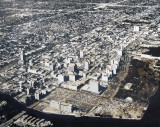 1962 - Aerial view of downtown Miami looking NNW