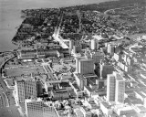 1930 - Aerial of downtown Miami, looking south