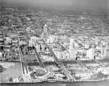 1930 - Aerial of downtown Miami, looking west
