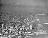 1930 - Aerial of downtown Miami, looking north