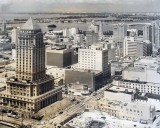 1962 - Downtown Miami with Dade County Courthouse and Industrial National Bank on Flagler Street