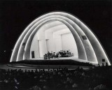 1950 - Crowd enjoying a concert at the new Bayfront Park Bandshell in downtown Miami