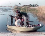 1973 - Buzz Corley, his dad and his airboat