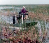 1973 - Buzz Corley's dad and his airboat