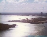 1975 - Over Government Cut looking west at Dodge island and downtown