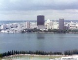 1975 - Downtown Miami in the background, west end of Dodge Island in the foreground