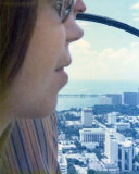 1975 - Jill Henderson Griffis in sightseeing helicopter over Miami