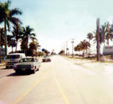 1971 - Looking south on NW 67 Avenue (Ludlam Road) into Miami Lakes from just south of the Palmetto Expressway