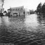 1947 - Miami Springs Pharmacy on the Circle in Miami Springs after the 1947 Flood caused by Hurricane VI