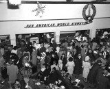 1953 - a crowded Pan American lobby at the 36th Street Terminal, Miami