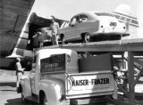 1951 - two Henry J's being loaded onto a Pan American Cargo Clipper C-46 at Miami