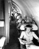 1940s - Passengers on a Pan American Boeing 307 Stratoliner