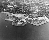 1942 - Dinner Key - Pan American flying boat base and U. S. Coast Guard Air Station on right