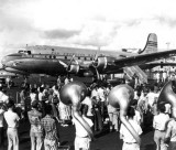 1951 - Christening of the Pan American Clipper Hurricane DC-4 N88898 at Miami