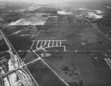 1954 - Aerial view of the Golden Glades Interchange looking west