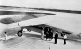 1930 - Passengers disembarking from Pan American Airways System at Pan American Field, Miami