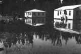 1947 - residential street in Miami Springs after the Flood of 1947 caused by Hurricane VI