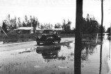1947 - Miami Springs roadway after the Flood of 1947 was receding