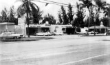 1963 - a Gulf gas station, Jerry Clarke Real Estate, the Keyhole, Hurricane Harbor lounge and a restaurant on Key Biscayne