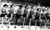 1977 - Miami High School Stingarees Cheerleaders - Eunice, Claire, Sadie, ?, PJ, Lisa (captain), Gracie and Ibis