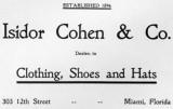1900s - Isidor Cohen & Co. advertisement