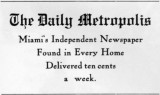 1910s - The Daily Metropolis advertisement