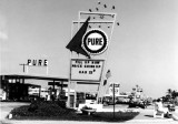 1964 - Pure gas station with gas at 22.9 cents on Collins Avenue, Sunny Isles