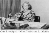 1962 - Miss Catherine L. Moore, first principal of Palm Springs Junior High School in Hialeah
