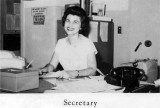 1962 - the Secretary for Palm Springs Junior High School in Hialeah