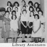1962 - Library Assistants at Palm Springs Junior High School, Hialeah